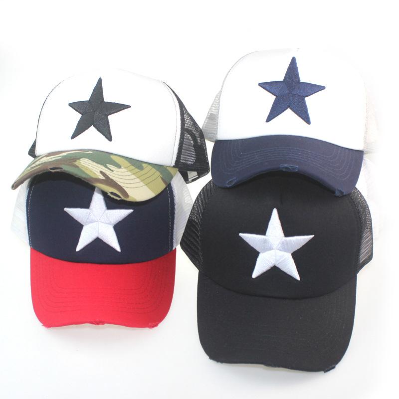 2020新款水洗棒球帽男女潮流星星个性欧美鸭舌帽爆款春秋遮阳帽子-