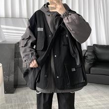 秋冬机能风工装外套男韩版潮流衣服ins冬季暖男穿百搭夹克超火cec
