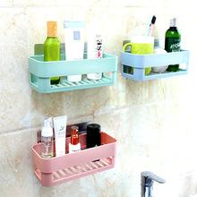 衛生間強力粘膠置物架免打孔塑料收納架浴室壁掛洗漱用品整理架子