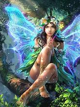 外貿批發 鉆石畫 蝴蝶精靈翅膀樹上森林 滿鉆客廳 廠家直銷招代理