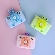 抖音網紅同款兒童卡通電動全自動泡泡照相機皇冠兔子青蛙泡泡機