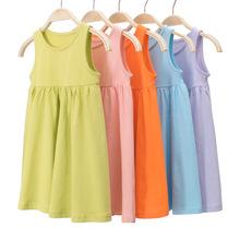 27home品牌童裝2020夏季新品 純棉女童連衣裙子全棉背心吊帶批發