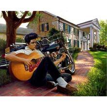 樹脂魔方圓鉆外貿鉆石畫新款現代歐式 男人吉他彈吉他 招代理