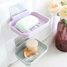 肥皂盒吸盤壁掛式衛生間創意簡約免打孔置物架浴室香皂收納瀝水架