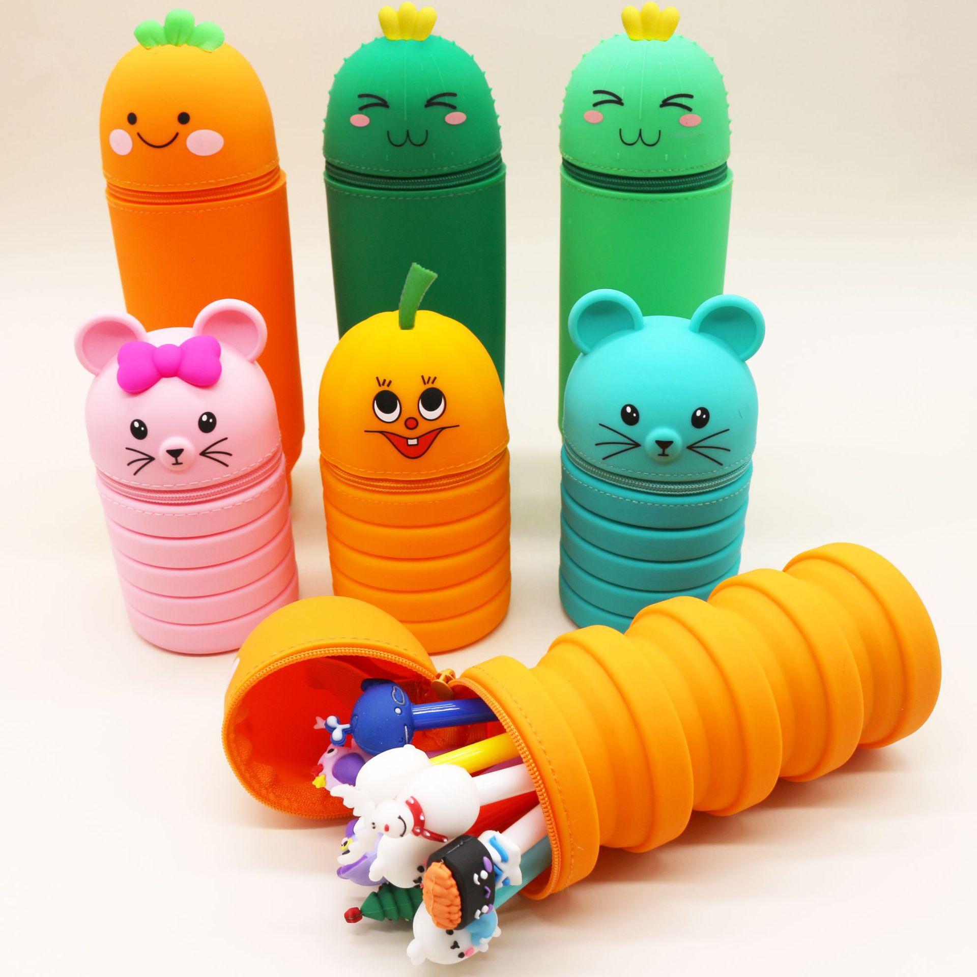 韩国可爱笔袋 笔盒大容量笔袋学生文具盒 小中学生铅笔盒袋子批发-