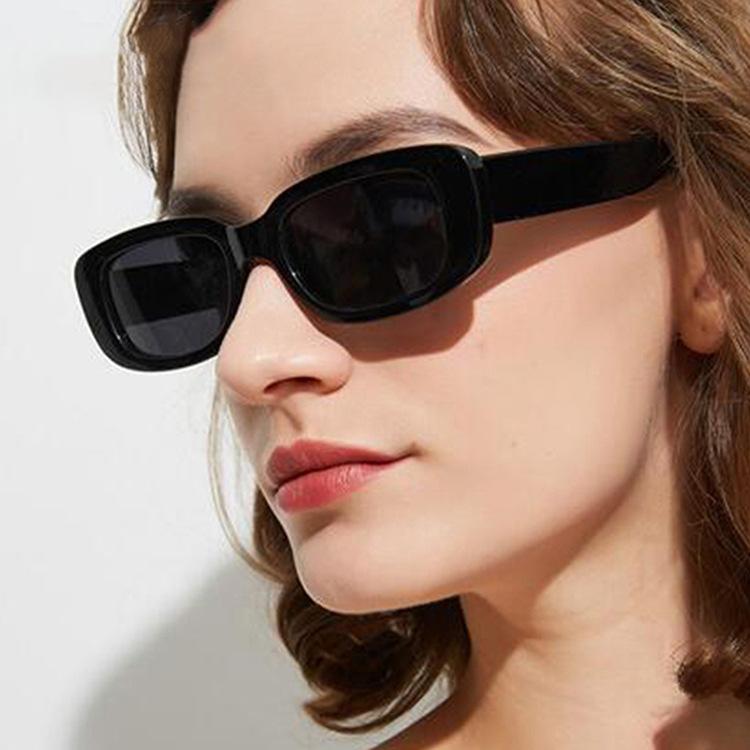 跨境速卖通爆款小框太阳镜方形2020新款墨镜潮流时尚街拍太阳眼镜-