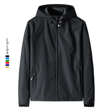 跨境秋季外套男装运动夹克防风防水大码男士薄款冲锋衣LOGO定制