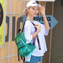 陸柯燃同款透明雙肩包日系學院風小書包時尚旅游背包男女防水防塵