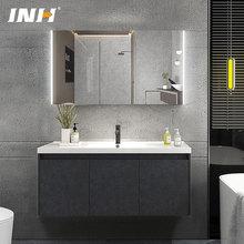 德國INH北歐衛浴套裝實木浴室柜組合現代簡約洗臉盆工程酒店批發