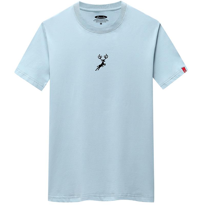加盟代發t恤男新款時尚青年韓版男裝印花短袖打底衫潮流百搭T恤