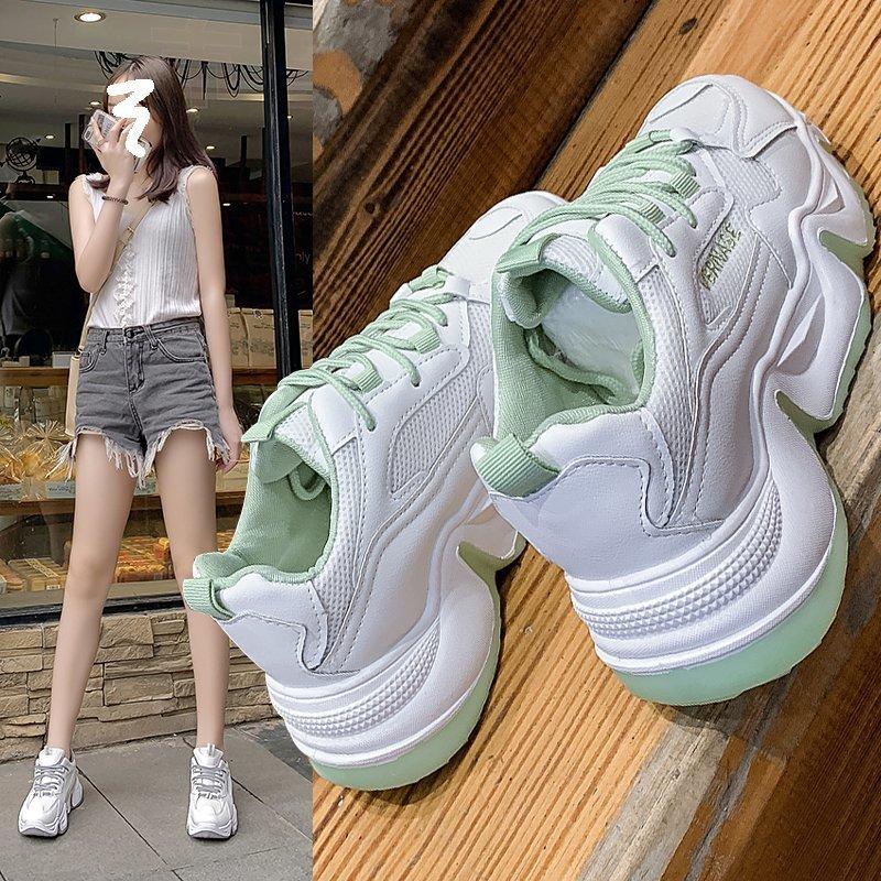 老爹鞋子女2020夏季新款女鞋透气网面学生小白运动鞋休闲鞋ins潮-