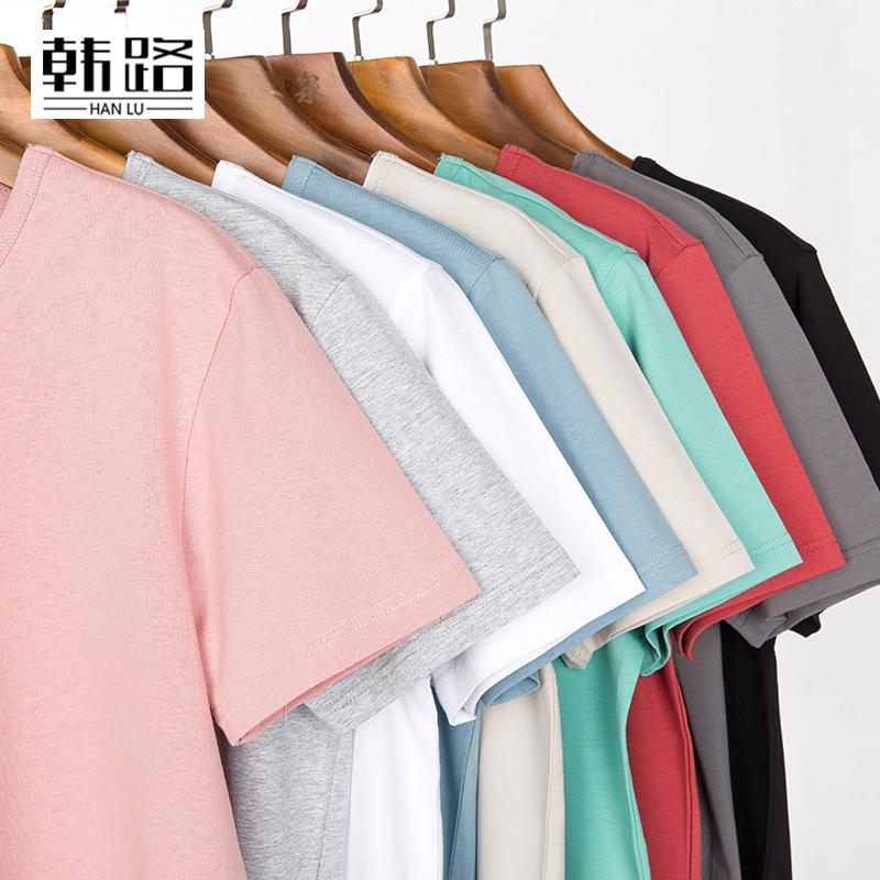 韓路男裝 【引流款】2020新品圓領短袖T恤純色男式打底體恤半袖潮
