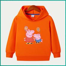 純棉童裝秋季新款男童連帽衛衣一件代發 兒童帽T寶寶長袖帽衫網紅