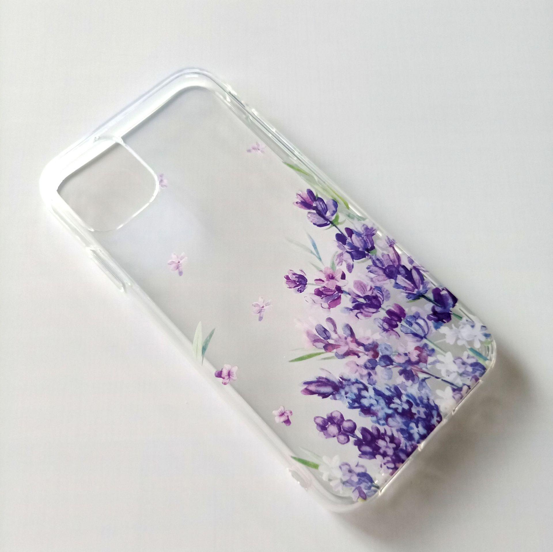 适用iPhone case手机壳来图定制 苹果11pro薰衣草IMD透明手机壳-