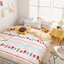 全棉四件套夏季新款純棉網紅款小清新被套床單款床上用品一件代發