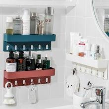 ZT1099抖音同款免打孔無痕帶掛鉤置物架 浴室收納架衛生間墻上