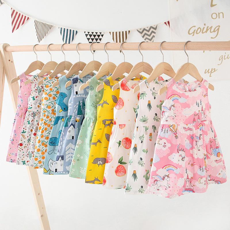 女童連衣裙2021童裙新款兒童純棉中大童小女孩公主裙連衣裙 女童