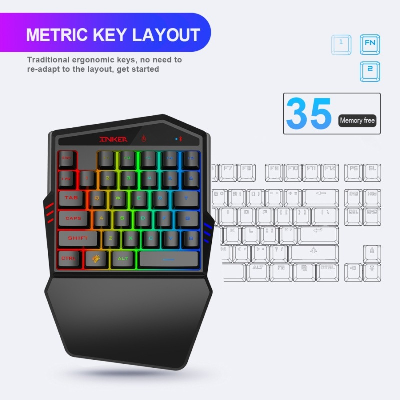 Bluetooth Gaming Keyboard Throne One Mouse Set
