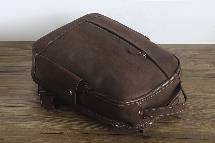 Men 100% Genuine Leather Laptop Backpacks Male Vintage Casual Backpacks Men's Travel Holder 14inch 15.6inch Computer School Bags 24