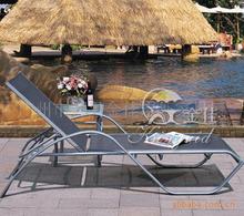 戶外鋁合金沙灘躺椅海邊游泳池配套特斯林網布躺床露天休閑沙灘椅