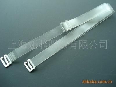 厂家定做热销款外贸出口品质保证透明12mm15mm合金扣TPU隐形肩带