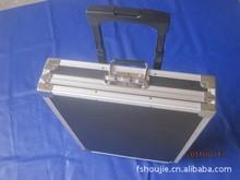 铝合金超薄型拉杆仪器箱 铝合金黑色拉杆工具箱定制 铝合金航空箱