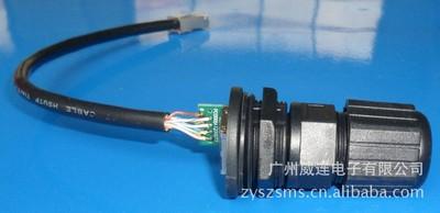 M25带电路板的RJ45防水连接器/室外ap防水连接器/RJ45连接器
