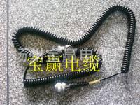 國標汽車電纜汽車自動門螺旋電纜彈簧連接線 TPU螺旋橡膠電纜
