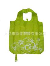 創意小商品批發 義烏新型背心折疊購物袋 個性單肩手提袋