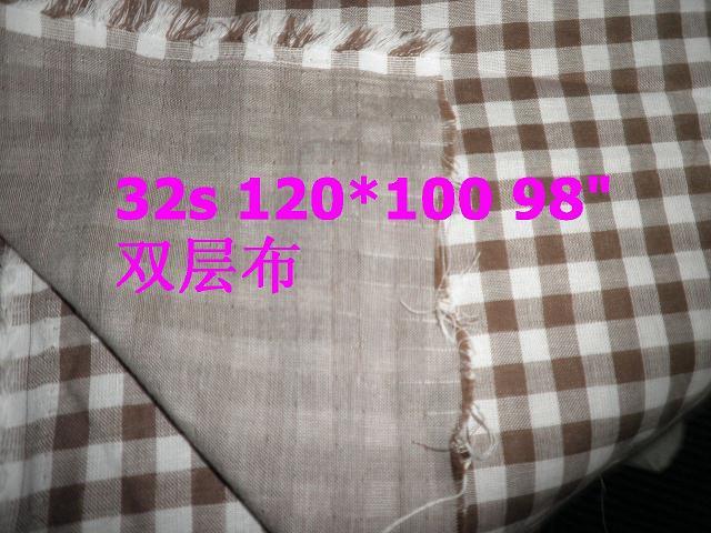 色织提花布双层布弹力布特殊可上色导电银丝绞综布光边布