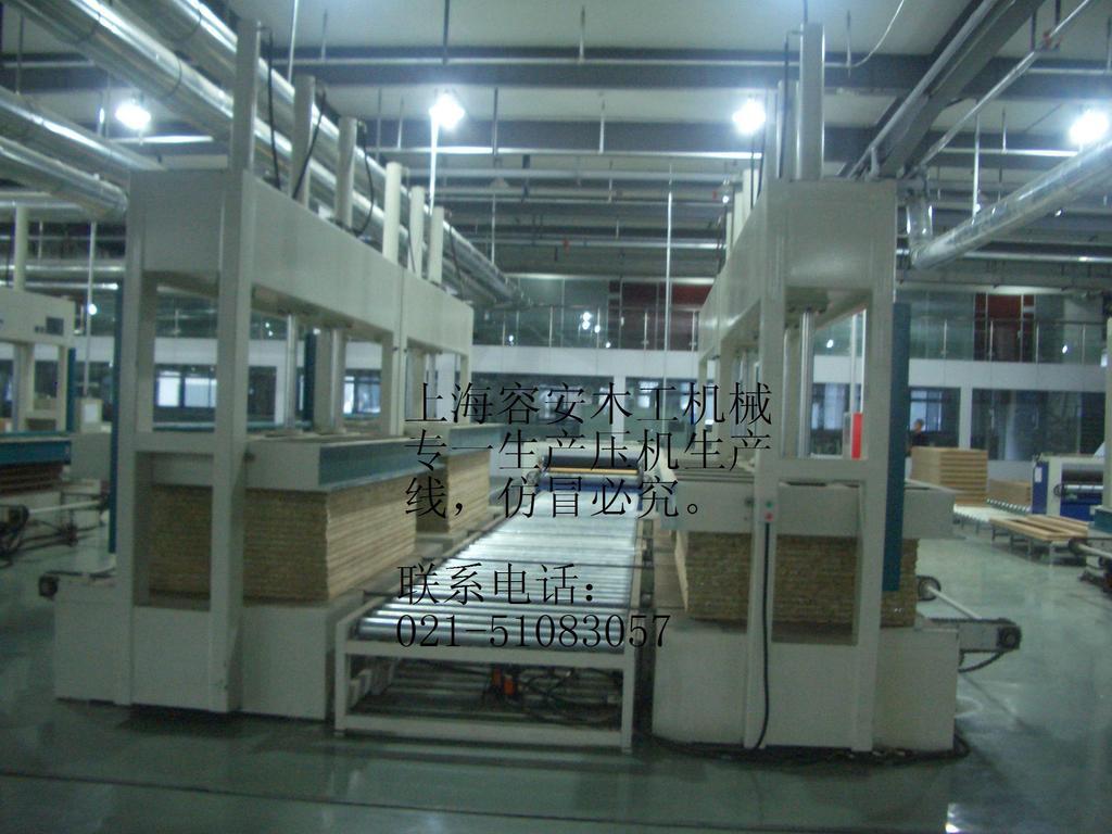木工機械壓機防火板貼面生產線