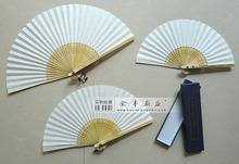 生产加工定制订做扇子韩国扇礼品广告扇工艺品 铜钉贴头烫花DIY