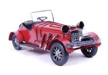 新奇特创意老爷车模型 仿古装饰铁质铁艺工艺品摆件礼品摄影道具