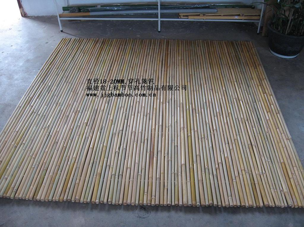 竹子穿孔篱笆bamboo drilled fence