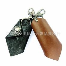 韩版时尚真皮钥匙包非主流朋克个性摇滚骷髅头腰挂汽车钥匙扣批发
