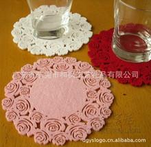 防滑毛毡布艺茶杯垫、日本出口烟灰缸垫、刺绣圣诞挂件礼品赠品