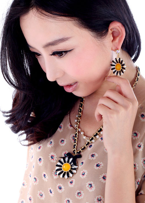 Alloy Fashion Flowers necklace  (necklace) NHQD4691-necklace