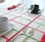 家居格子 纯棉双经双纬活性印花 帆布 环保 批发厂家直销 桌布