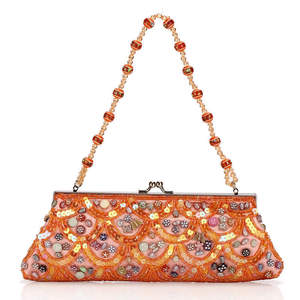 Chinese national style, Female handbag with Beaded Chain