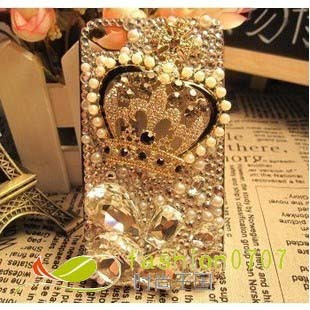 DIY jewelry accessories material mobile phone beauty stickers diamond alloy accessories pearl crown shape