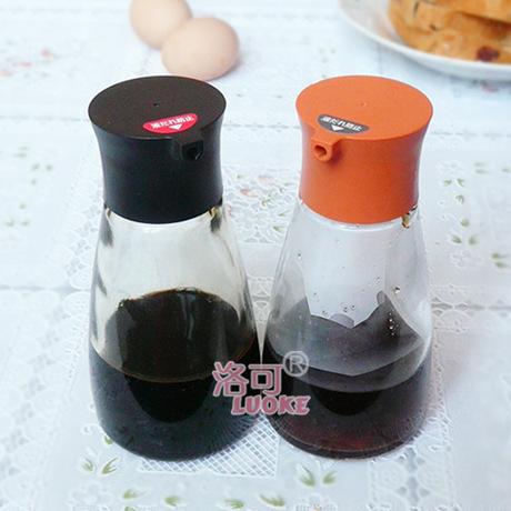 2018 nguồn cung cấp sáng tạo bếp nhà chai dầu kiểm soát dầu chai nước tương kính và dấm chai lọ gia vị cam Lọ gia vị