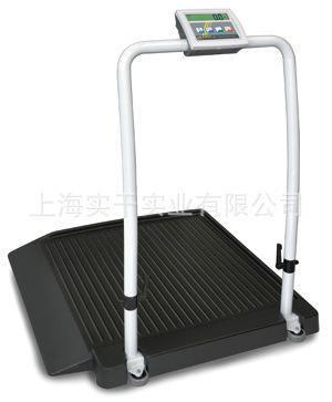 医疗轮椅电子秤价格称体重带打印带引坡轮椅体重一体秤带座椅式