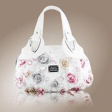 速卖通欧美风范手提包女包批发玫瑰花时尚女士包包印花包袋840