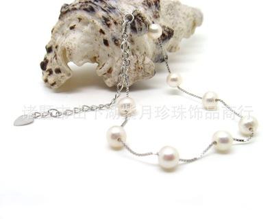 淡水珍珠手链 韩版时尚新款 925银SYA37028 小额混批