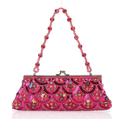 Chinese national style, Female handbag with Beaded Chain's main photo