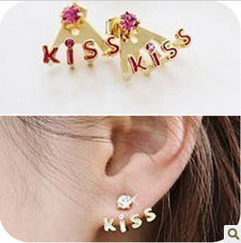 Fashion earrings with diamond earrings