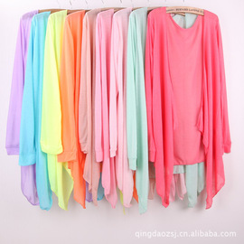 women's transparent breathable increase fertilizer plus sun protection clothing air conditioning cardigan shawl 200 kg can wear
