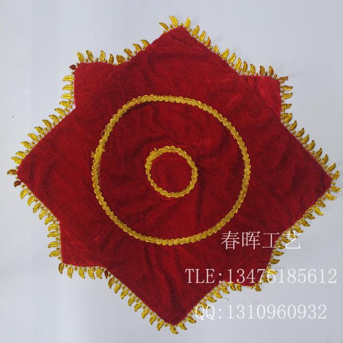 厂家批发 九寸二人转手帕 舞蹈手绢 技巧转巾 秧歌八角巾舞台道具