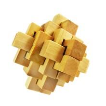 二十四鎖 本色小菠蘿孔明鎖魯班鎖批發木制成人益智解鎖拆裝玩具
