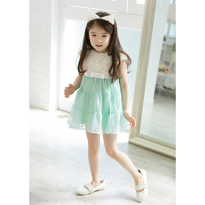 66899fbb8 2019 Lowest Price Baby Girls Dress Rose Flowers Lace Dress Chiffon ...